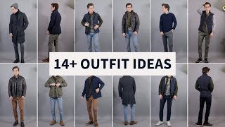 14 Layering Outfit Ideas for Men | Smart Casual Fall Winter Outfits