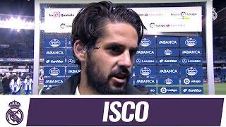 Isco, tras la goleada contra el Deportivo