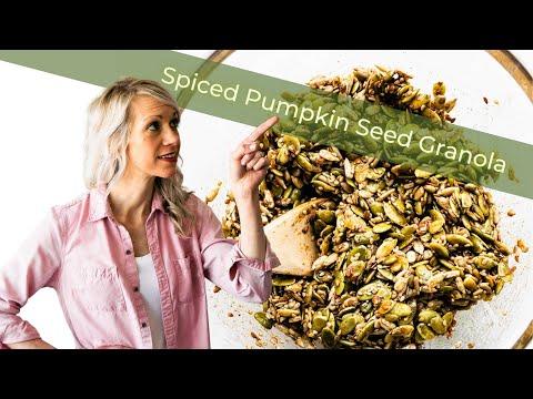 Spiced Pumpkin Seed Granola (Grain free)