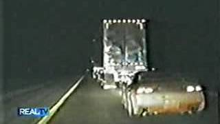 Eighteen Wheeler Rolling Roadblock Stops Police Chase