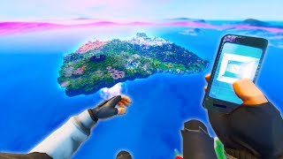 How to get your *Phone* on Main Island! (+Merge traps fortnite glitch)