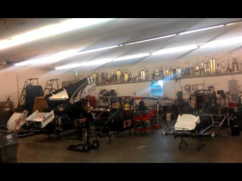 Living in a Van camping at Steve Kinser Racing - YouTube