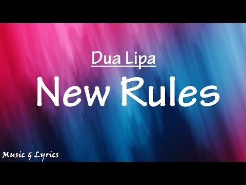 Dua Lipa - New Rules (Lyrics / Lyric Video)