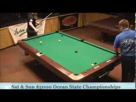 Jason Shaw Mike Dechaine 25th Annual Ocean State 9 Ball Finals Set 1