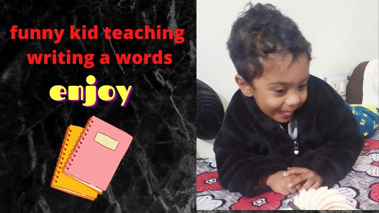 Funny kid teaching technique