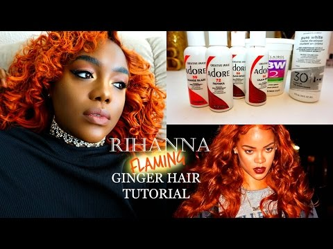Rihanna Inspired Ginger Hair: How to revive over processed hair ft. Unice Hair - 동영상