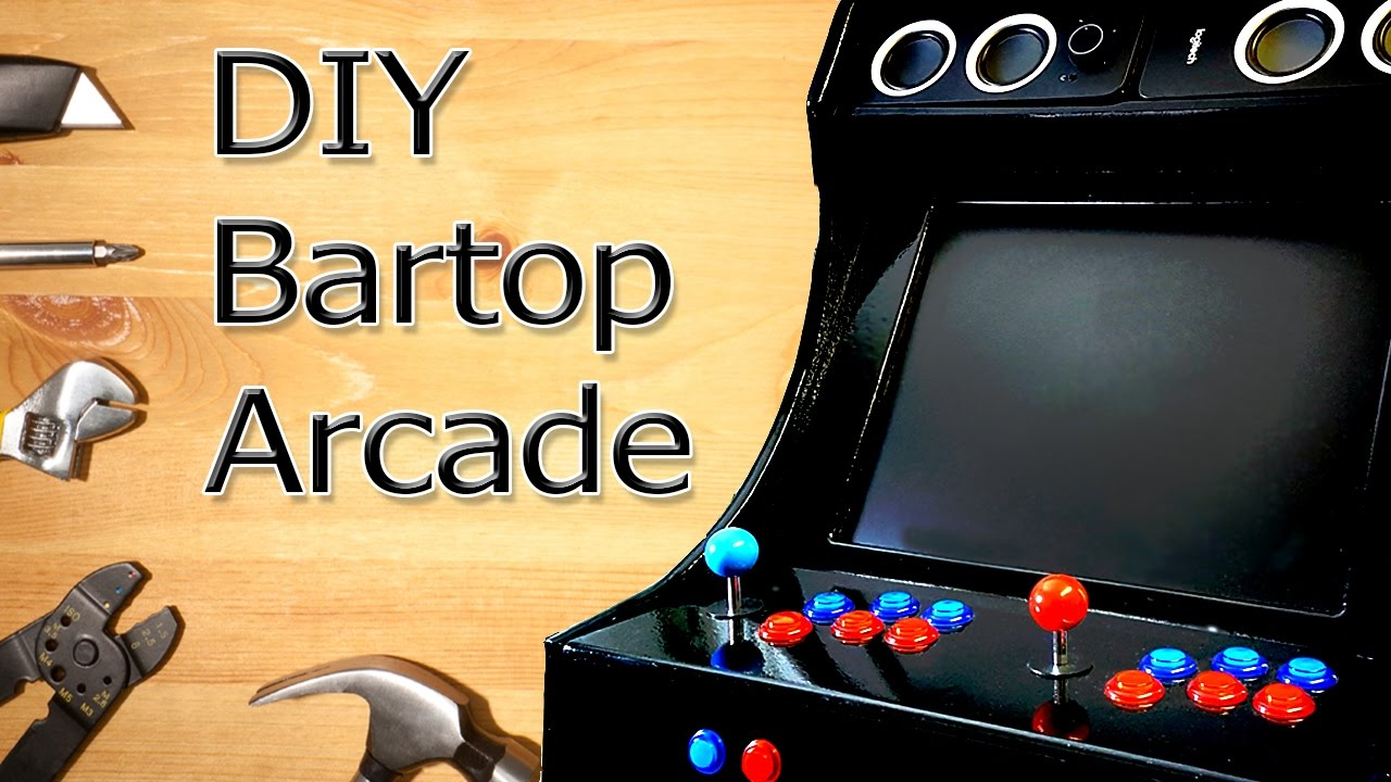 diy bartop arcade templates included youtube