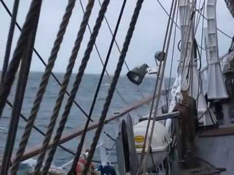 Sailing on the North Sea with the Dar Mlodziezy