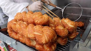대왕 꽈배기 / giant twisted bread stick / korean street food