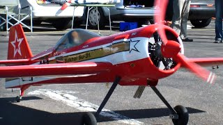 Radial Engine beautiful R/C Sukhoi SU-31 with a 5 Star Motor Zylinder thats Sound !