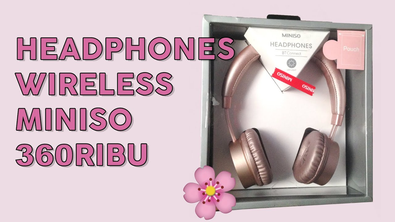 Review Headphones Wireless Miniso Rosegold H 023 Bahasa Youtube