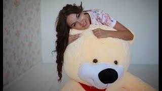 Большой плюшевый медведь Тихон 170 см персикового цвета(, 2014-11-18T17:25:26.000Z)