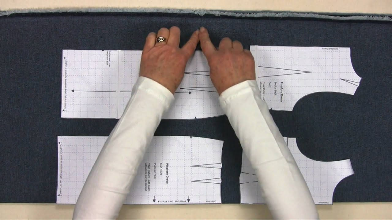 Sewing Make Your Own Clothes Learn To Sew Part 2 Cutting Out Youtube