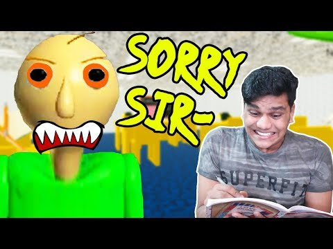 Sabse Darawana Teacher - Baldi Basics Horror Game (Scary Reactions)