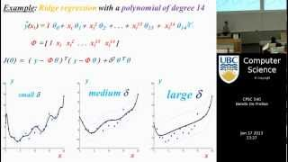 Machine learning - Regularization and regression