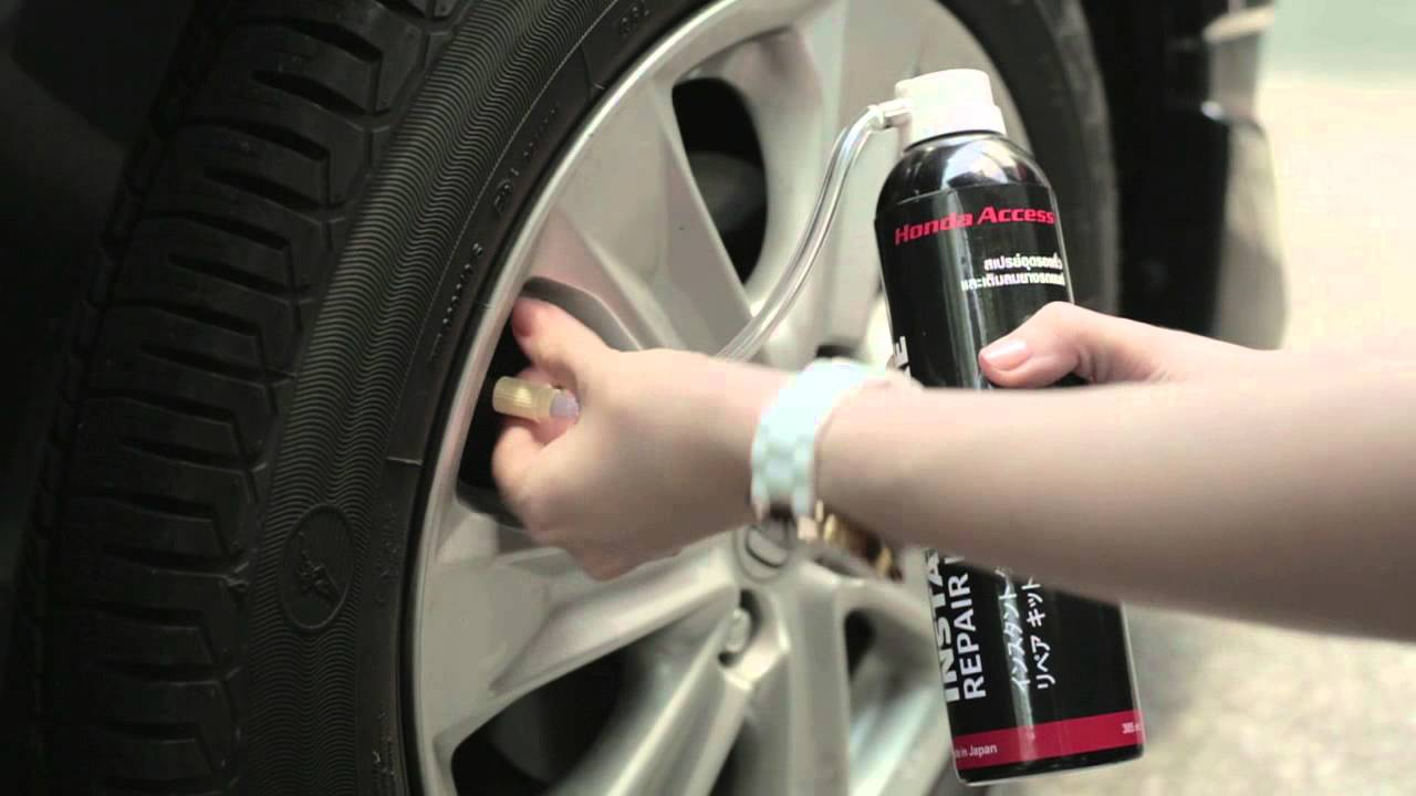 Tire Repair Kit >> Instant Tyre Repair KIT by Honda Access - YouTube