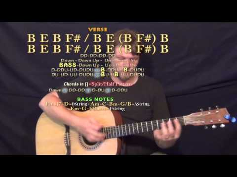Toes (Zac Brown) Guitar Lesson Chord Chart in B Major
