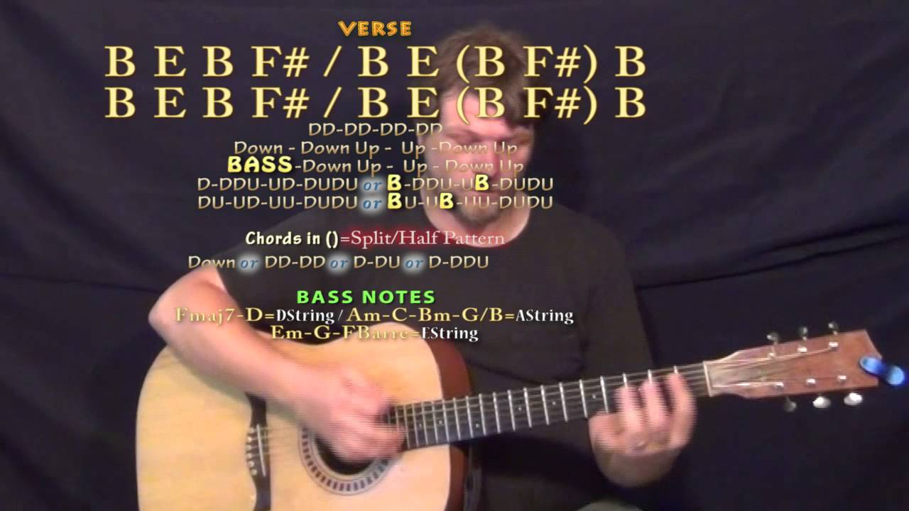 Toes Zac Brown Guitar Lesson Chord Chart In B Major Youtube