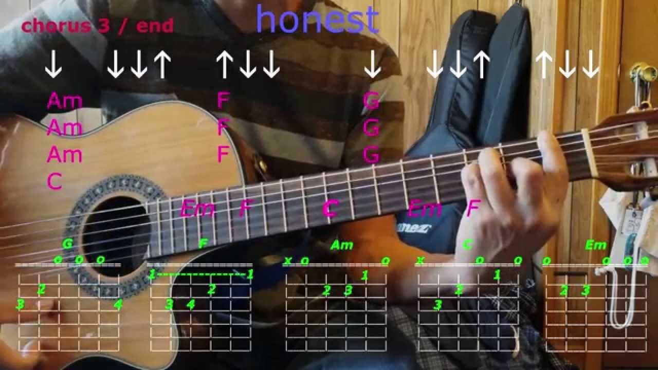 Honest Kodaline Guitar Chords Youtube
