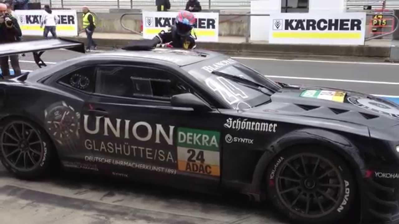 Pit Stop Sareni Camaro Race Car Nurburgring Youtube