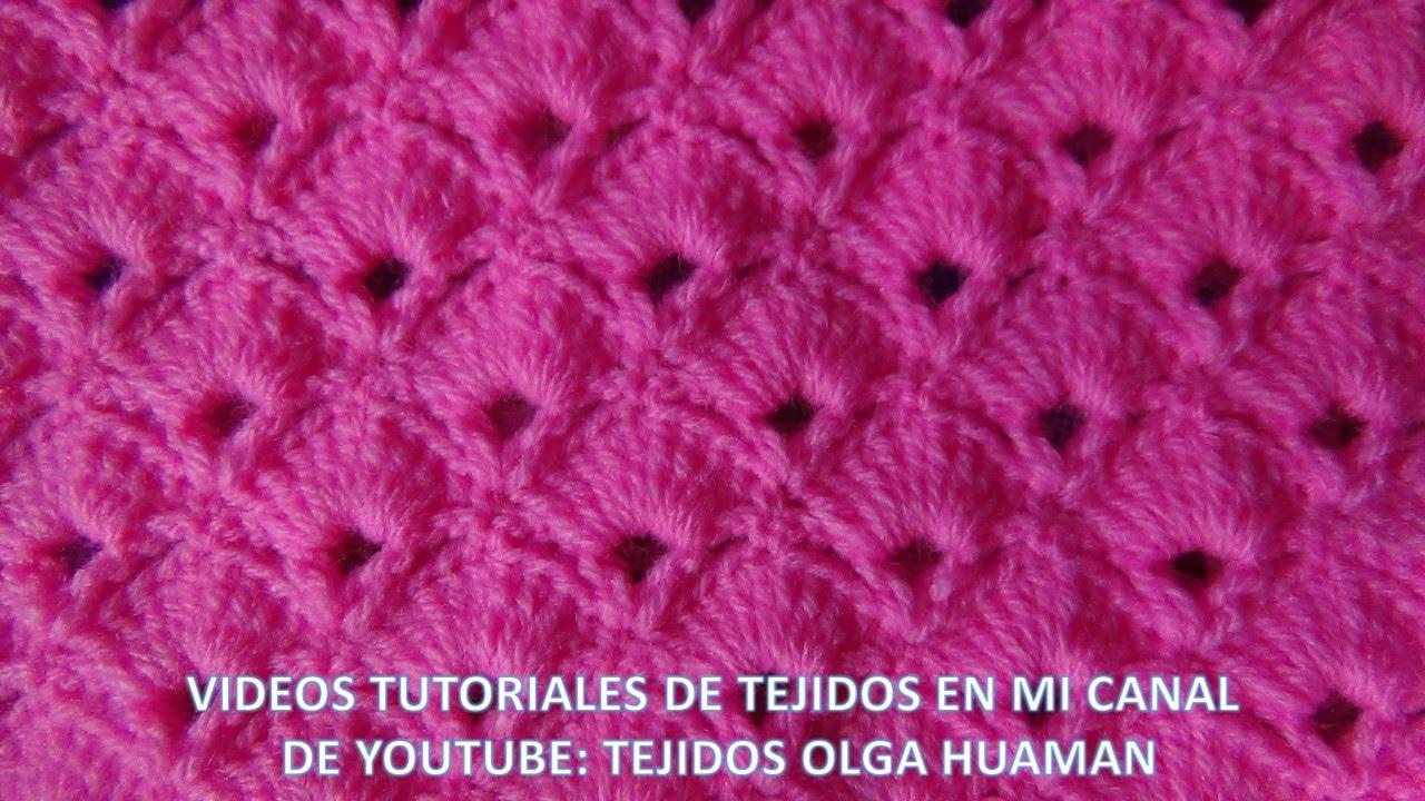 punto abanico tejido a crochet paso a paso para colchitas y mantitas ...