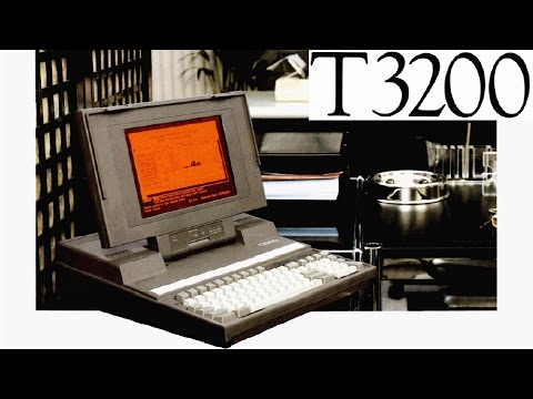 1987 Toshiba T3200 - The most powerful laptop of 30 years ago