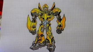 Как нарисовать Трансформера Бамблби #94 / How to draw Transformers Bumblebee