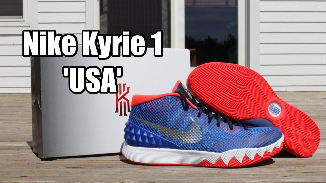 the latest 5016e e5217 Nike Kyrie 1 'USA'/'Independence Day' - Soar/Metallic Silver/White/Bright  Crimson