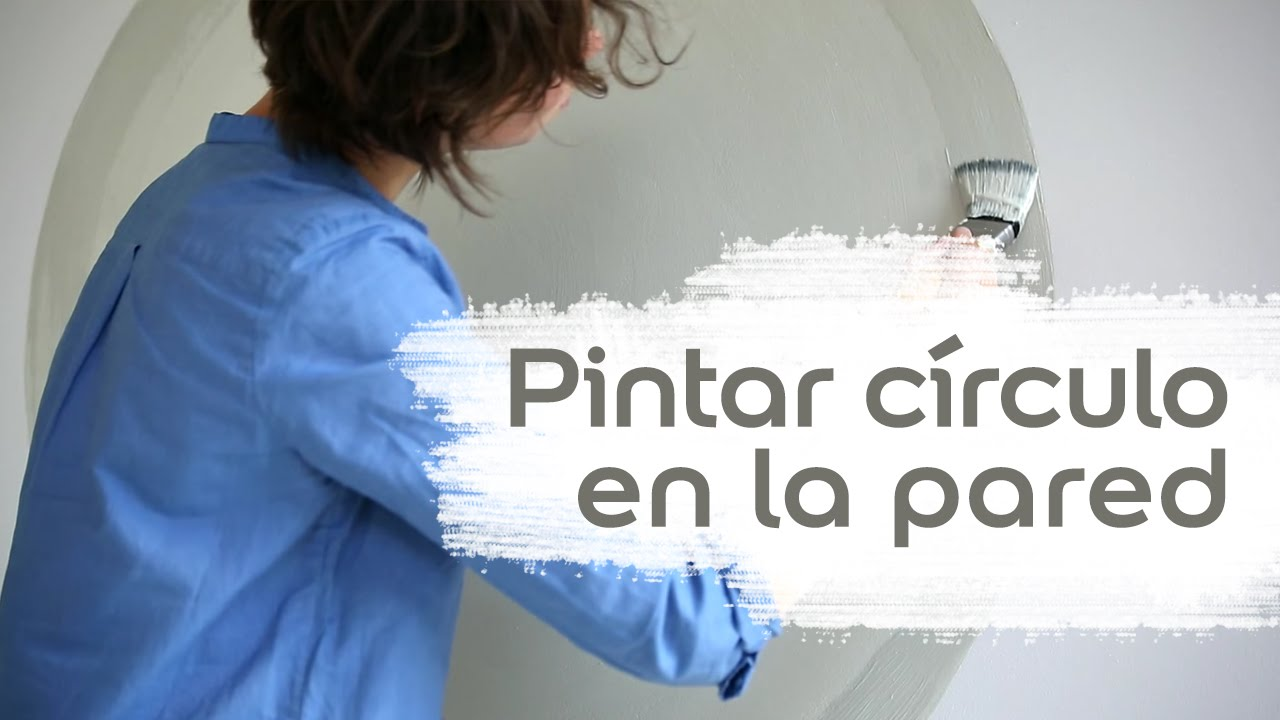 V deo tutorial c mo pintar un c rculo en tu pared for Pared pintada con circulos
