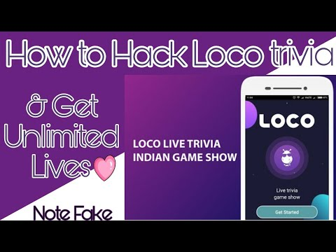 Loco Trivia - How to hack loco trivia and get unlimited lives   get unlimited lives