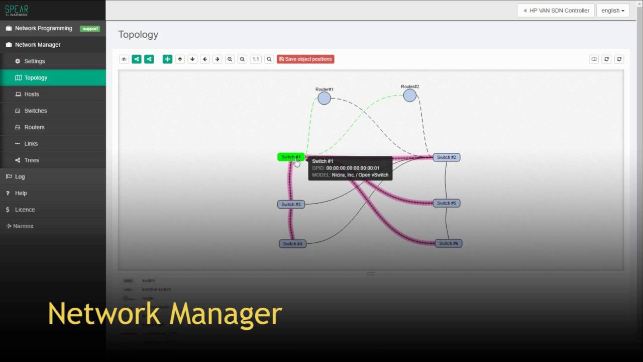 Demonstration of Spear SDN app by Narmox