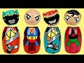 POWER RANGERS SUPERMAN Superhero Wrong Heads Game, Avengers Toy Surprises TUYC