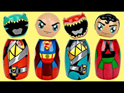 Thumbnail: POWER RANGERS SUPERMAN Superhero Wrong Heads Game, Avengers Toy Surprises TUYC