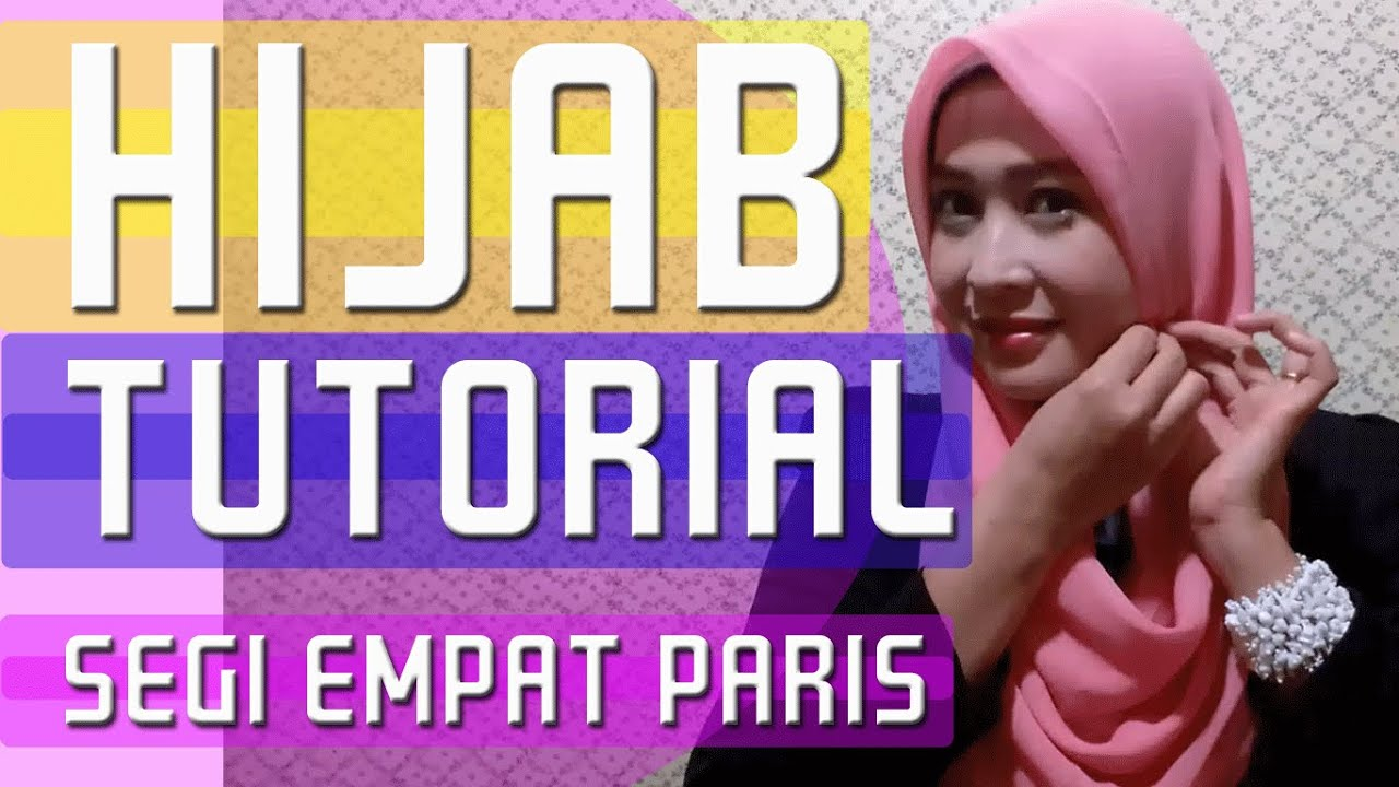Tutorial Hijab Pesta Simple Terbaru 2016 Hijab Paris Segi Empat