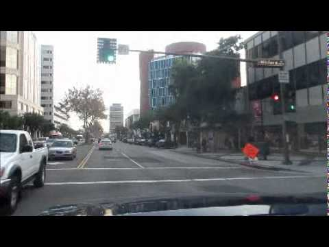 Driving along Glendale Streets, CA, USA