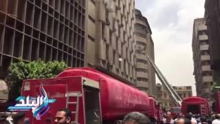 شهود عيان: ماس كهربائي وراء حريق مبنى تأمينات وسط القاهرة..فيديو و صور