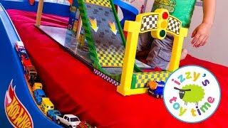 Hot Wheels Cars  | Hot Wheels Bed with Fast Lane and KidKraft! Fun Videos for Children