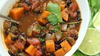 How to Make Vegetarian Sweet Potato & Black Bean Chili