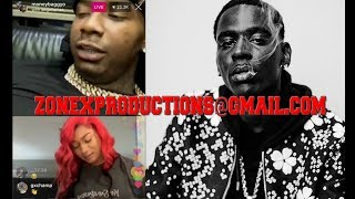 Moneybagg Yo & Megan Thee Stallion flirting when suddenly Young dolph JOINS,BAGG GOES CRAZ!WACTH