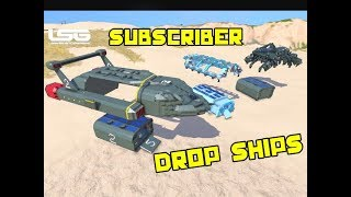 Space Engineers - Outpod Subscriber Creations Drop Ships