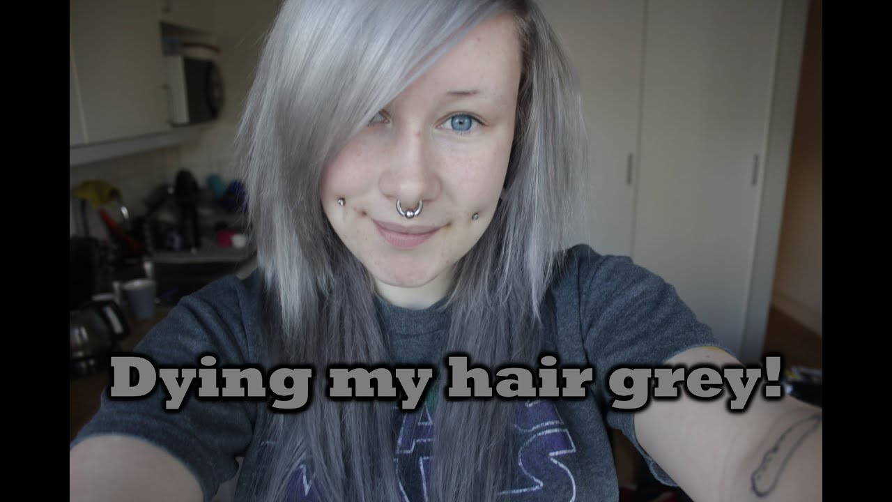 how to make hair silver grey
