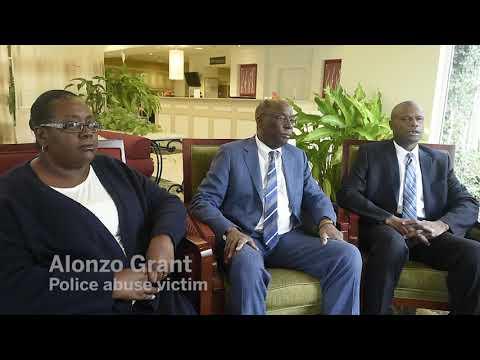 Syracuse police abuse victim Alonzo Grant speaks