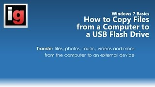 how to copy or transfer files from a computer to a usb flash drive