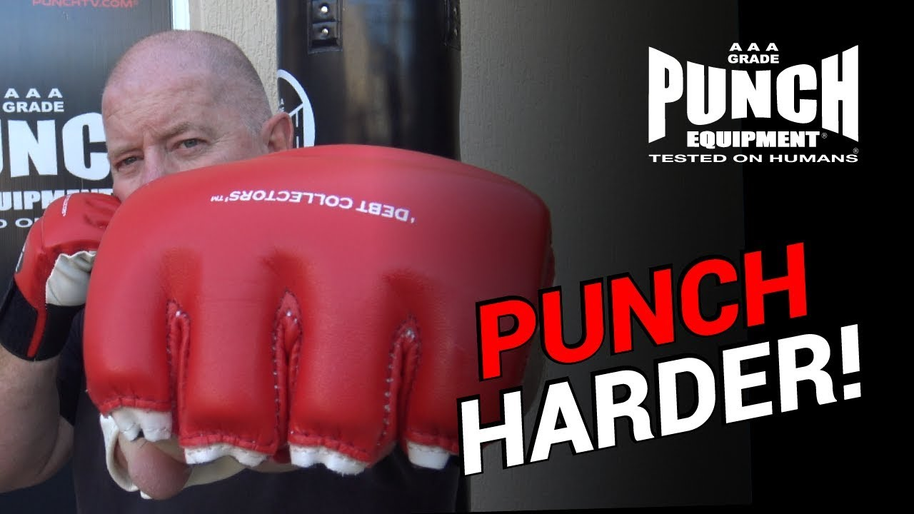 PUNCH Debt Collectors MMA Mitts Bag Cut Finger Training Gloves