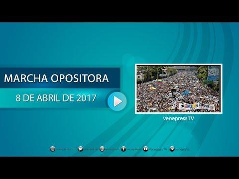 EN VIVO: La oposición marcha en Caracas #8Abr