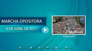 en vivo la oposicin marcha en caracas 8abr