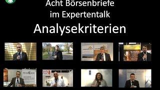 Edelmetallmesse 2014 - Expertentalk Video 2: Aktienauswahlkriterien