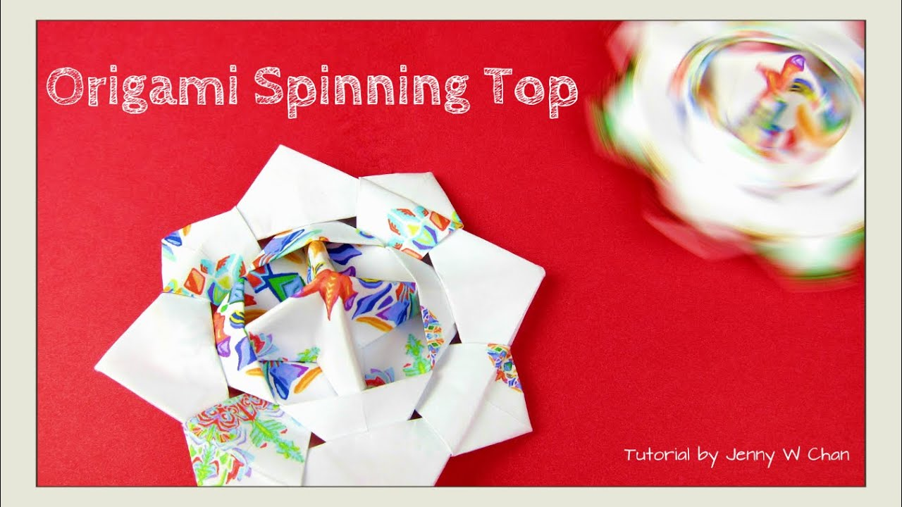Christmas Crafts - Origami Top - Origami Spinning Top Toy - Paper Craft