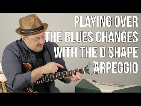 Using Arpeggios For Playing Over Blues Changes - Blues Guitar Lessons - Solo