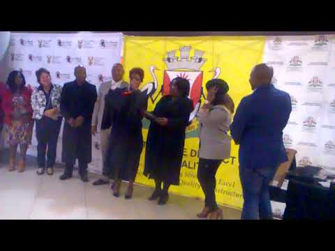 Gert Sibande District Collage Dissabled Students  Graduation - Top Perfomers Getting Laptops
